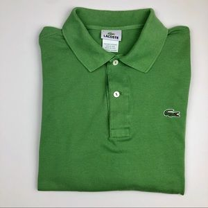Lacoste Long Sleeve Green Polo Shirt Size S